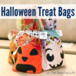 Create these easy DIY Halloween Treat Bags with a few fabric scraps, felt and a cutting machine. | The Sewing Loft