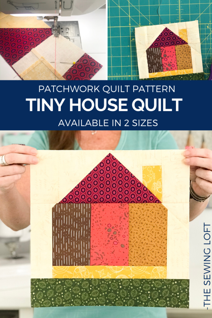 Tiny House Quilt Block | The Sewing Loft Available in 2 sizes