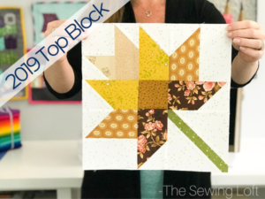 The simple patchwork construction of the Fall Leaves quilt block makes it perfect for quilters to play with their scraps.