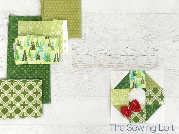 Holiday Wreath Quilt Fabrics | The Sewing Loft