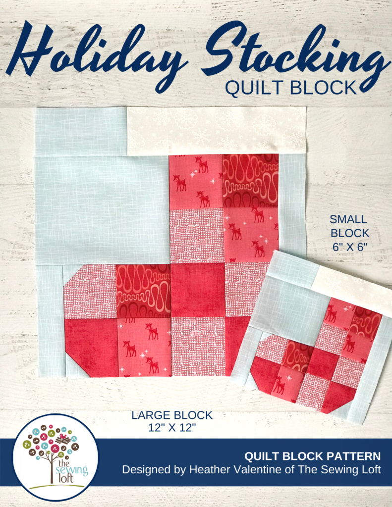 Grab your favorite scraps and make this patchwork stocking quilt for the holidays. Pattern available in 2 sizes.