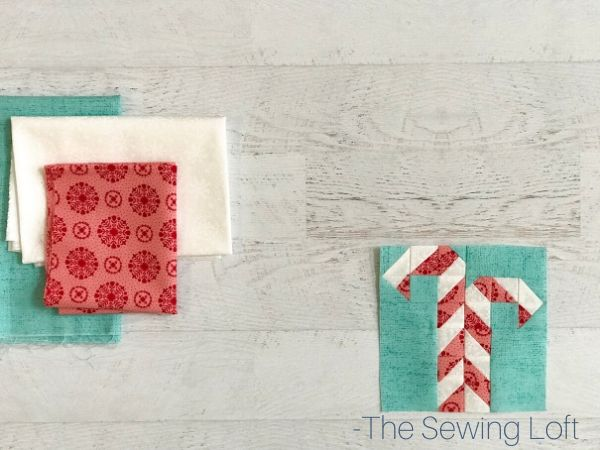 Candy Canes Quilt Block Finished | The Sewing Loft