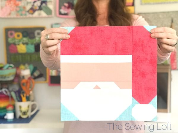 Keep the magic of the season alive with this easy to make Santa Claus quilt block. The patchwork construction make it perfect for all skill levels. The Sewing Loft