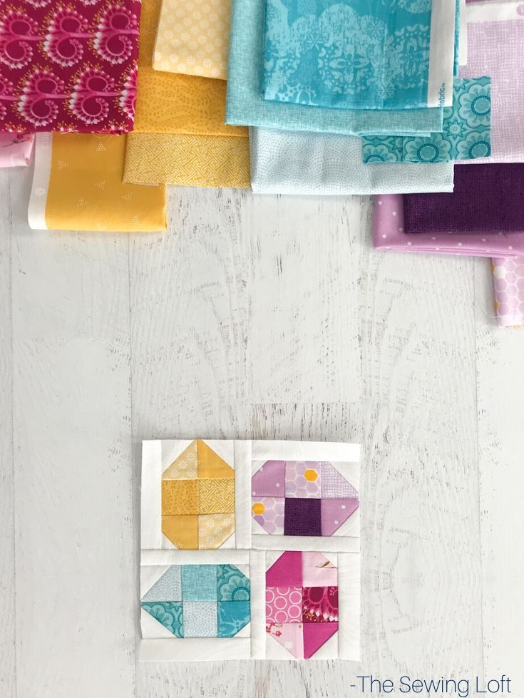 The easy to make Easter Easter Eggs Quilt is perfect for the newbie quilter. The patchwork construction is easy to make and audition your scraps.
