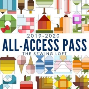 Take your quilt library to a whole new level with the All Access Quilt Pass from The Sewing Loft. Includes over 100 blocks, templates, project ideas & tips to help you achieve perfection!