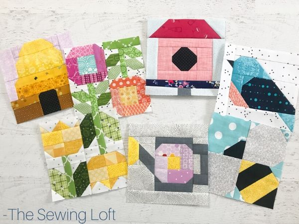 Spring Themed Quilt Blocks by The Sewing Loft