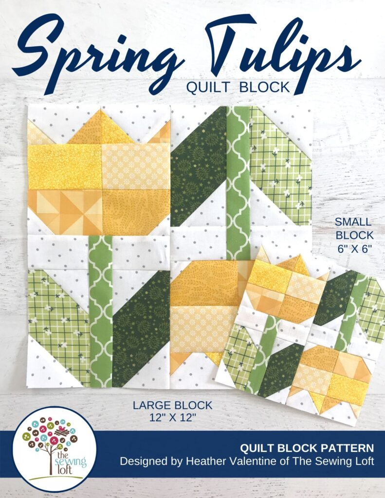 Spring Tulips Quilt Block | The Sewing Loft
