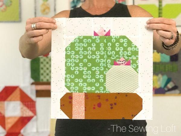 Cactus Bloom Quilt Block | The Sewing Loft
