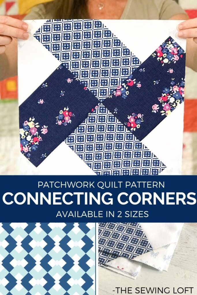 Create a one of a kind intentionally colored quilt with the Connecting Corners quilt pattern from The Sewing Loft. NO special tools, templates or rulers.