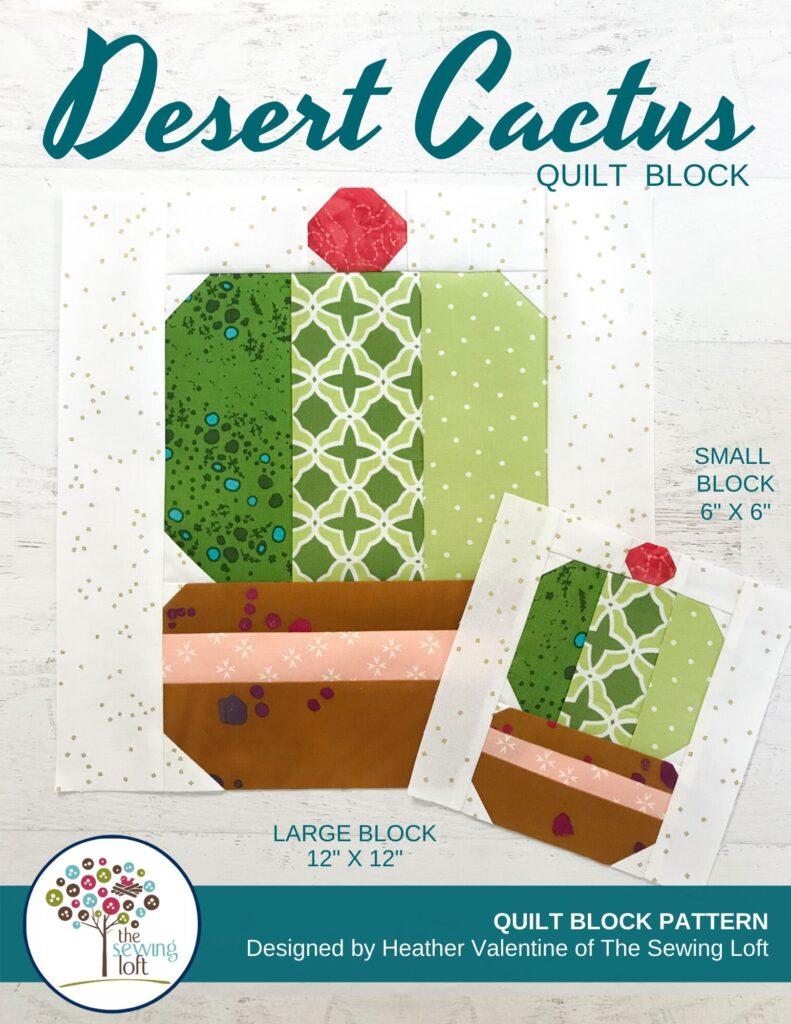 Desert Cactus Quilt Pattern | The Sewing Loft